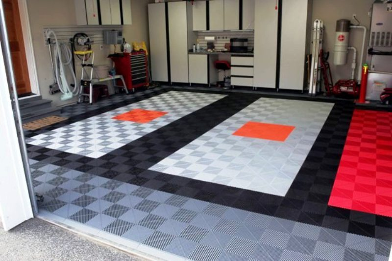 Garage Flooring Floor Tiles Custom Closets And Bedrooms