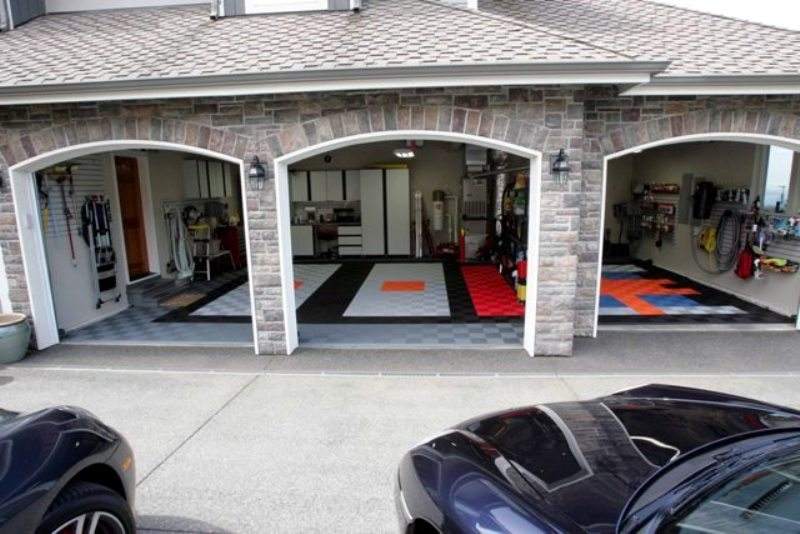 Garage Floor Tile Designs Images 90 Flooring Ideas